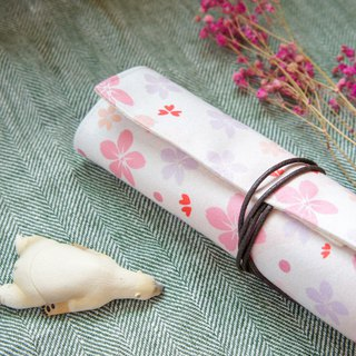 pencil case & tableware bag / blissful cherry blossom