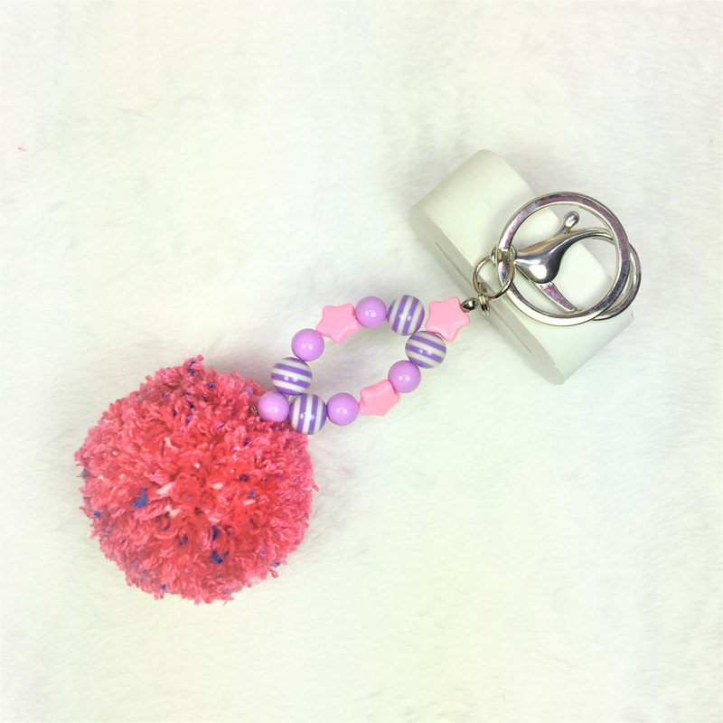 Baobao hair ball pendant*hair ball key ring*
