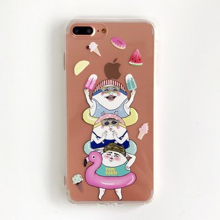 Eggheads pool party- iPhone case