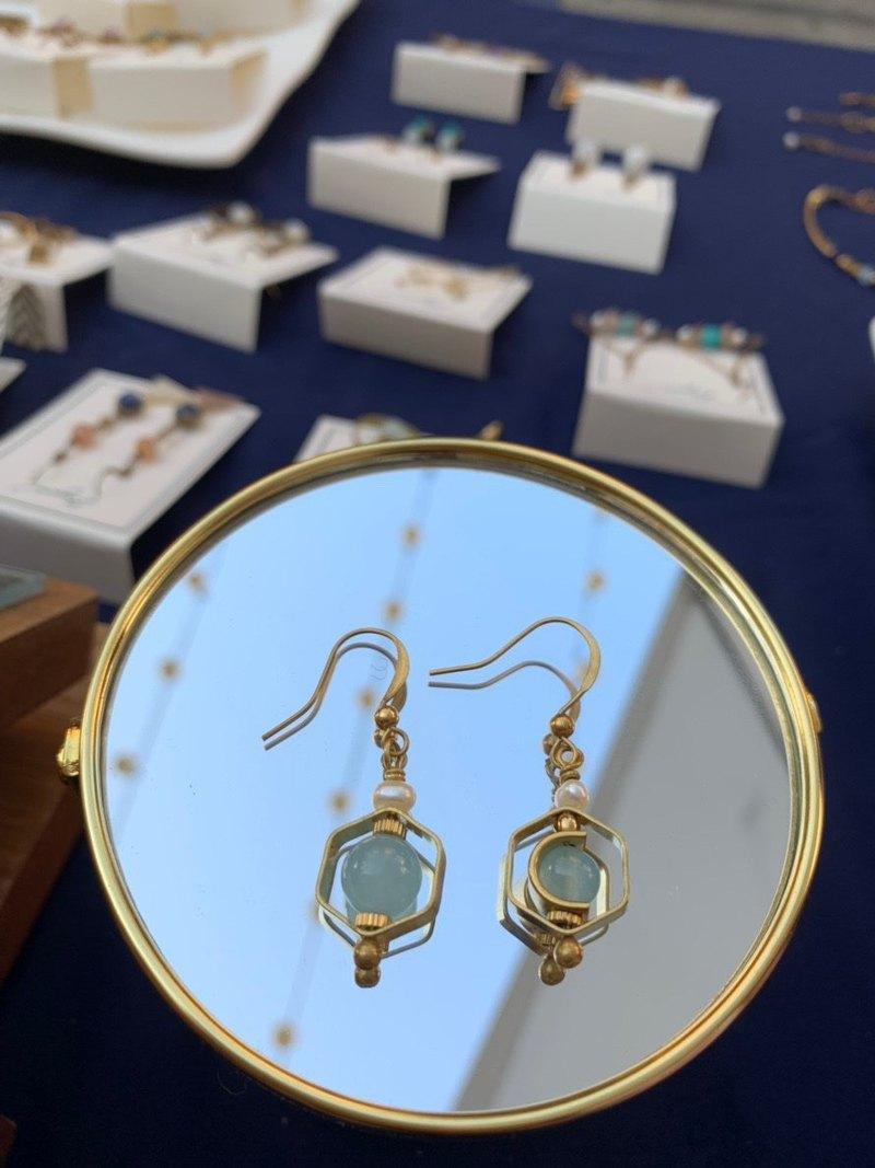 黃銅耳環 | 幾何   耳針 / 耳夾