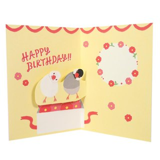 Two birds squinting together [Hallmark - three-dimensional card birthday blessing]
