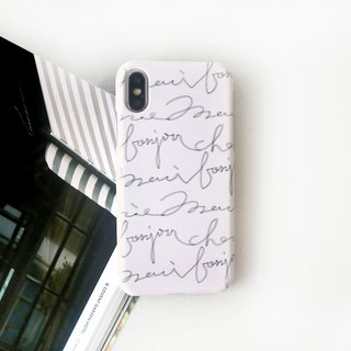 Handwritten pen French phone case
