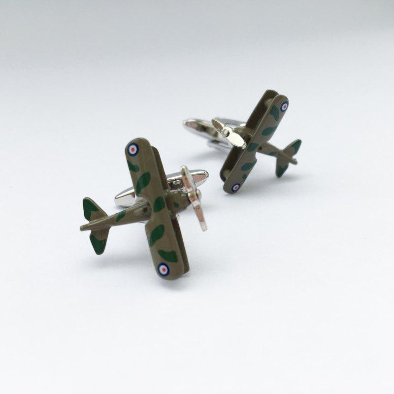迷彩飛機袖扣 前葉可動 Camouflage Plane Cuffink (Movable)