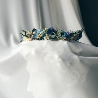 Crown!! [God of the Messenger - Hermes Hermes] Dry flower head crown wedding wedding hair style