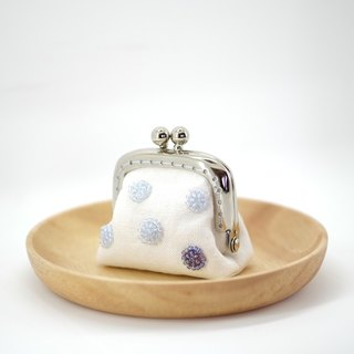 CaCa Crafts | Snow Ball Tiny Kisslock Purse