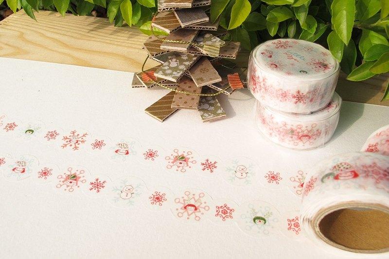 小蘑菇紙膠帶-冬日雪花