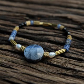 Soda stone limited edition bracelet (090) - blue. net
