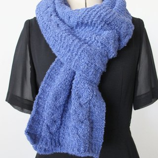 Lan wool scarf (blue and white)