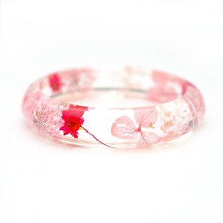FlowerSays / Hydrangea Real Flower Bracelet / PinkCollection /