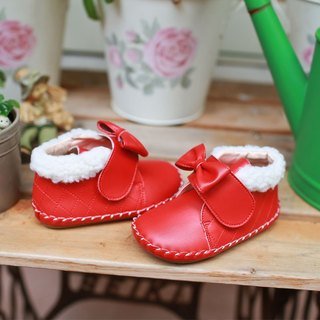 AliyBonnie Children's Shoes Snow Country Little Wind Baby Boots - Christmas Red