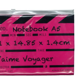 Director clap Journal jotter A5 Notebook - Pink