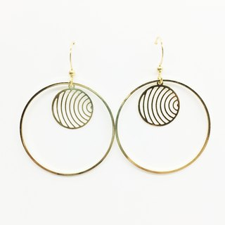 Old Lin Groceries Travelin Brass Handmade Earrings - Round Circle Ears Hooks L Ears L Ear Clips