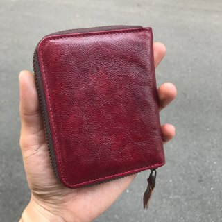 Sienna leather organ wallet