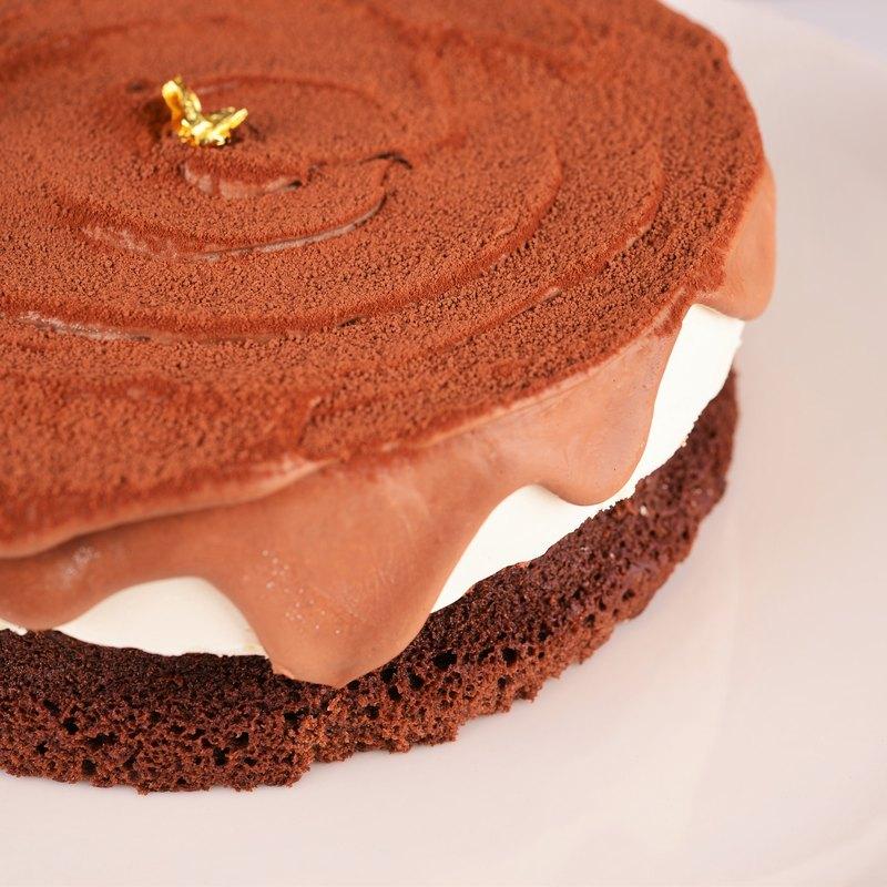 【送小熊盤叉】香濃起司生巧克力/6吋 生日蛋糕 節慶禮盒 *經典*