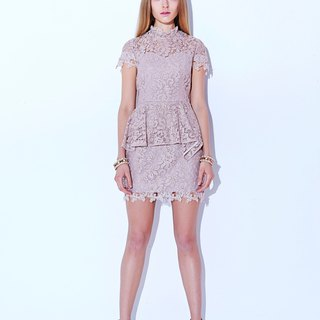 Fairy Pink All Over Lace Dress