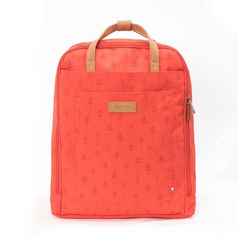 GOLLA 北歐芬蘭時尚極簡後背包 Backpack 印花莓果紅 15.6-G1896