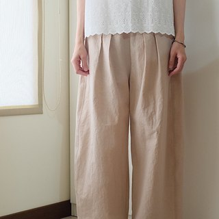 Daily hand-made suit gray pink daily small wide pants cotton special single 97cm