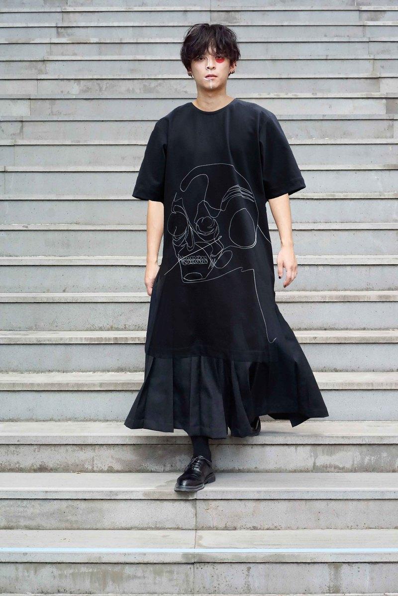 20SS 骷髏圖案 OVERSIZE T-shirt