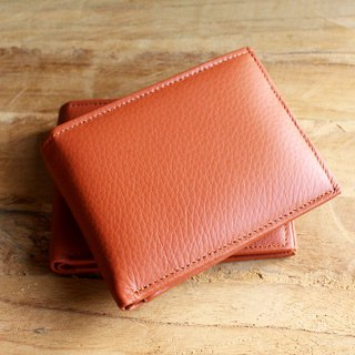 Wallet - Bifold - Tan (Genuine Cow Leather) / Small Wallet  / 钱包 / 皮包