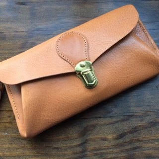 "Italian leather * wallet ""series-envelope"" Natural"