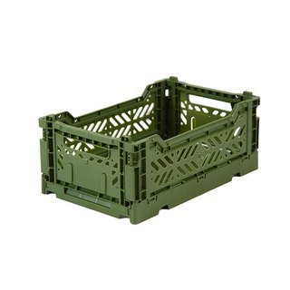 Turkey Aykasa Folding Storage Basket (S) - Army Green