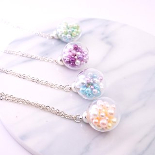 Colourful Pearl Glass Ball Necklace