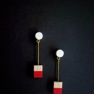 Wooden Earrings No.33