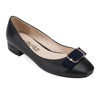 SPUR Ladyish ribbon flats LF8038 BLACK