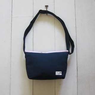 Shoulder Bag Series - Canvas S Navy Blue + Light Powder (Zip Opening)