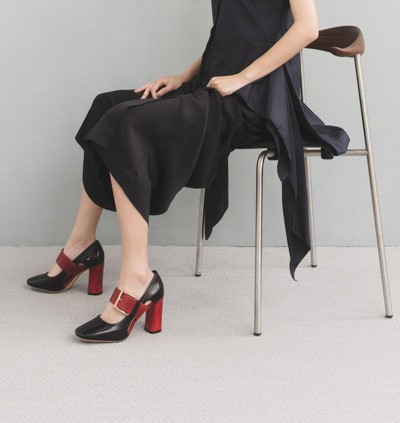 HTHREE 8.5瑪莉珍高跟鞋 / 黑 / 8.5 Mary Jane Pumps