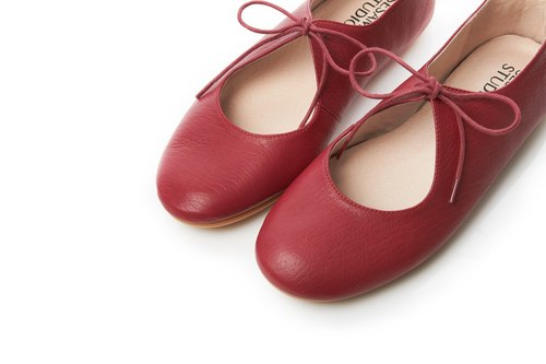 Take a Break-Leather Casual Women Shoes-Red