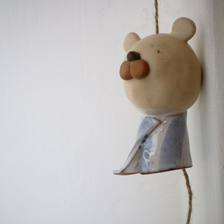 The third floor hand-made pottery A bear wind chimes