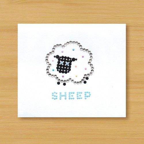 Hand Stickers Card Sheep Sheep Birthday Card Universal Card