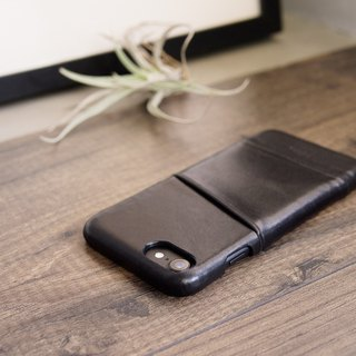 Alto iPhone 8 Leather Case Back Cover 4.7吋 Metro - Raven Black