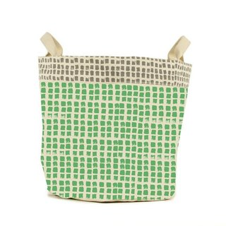 Canada fluf organic cotton portable storage dual-use bags - small dot (small) grass green