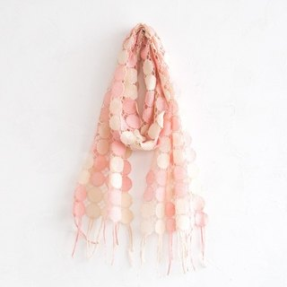 Plant dyeing embroidery dot scarf Sakurasome