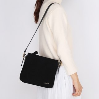 Petite Black Color High Quality Suedette Faux Leather Shoulder Bag