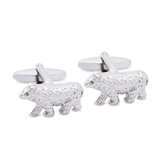 Brown Bear Cufflinks, Sun Bear Cufflinks