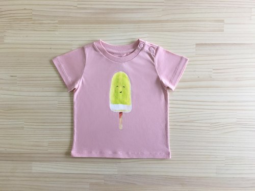 gujui eat ice - organic cotton short-sleeved shirt - Pink