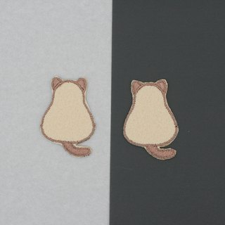 Mini Siamese Cat Iron Patch