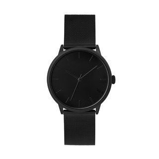 The Nuge series black dial - Black Milan with adjustable watch