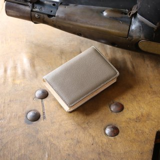 日本製造 牛皮 名片夾 名片盒 淡棕色 Weinheimer made in JAPAN handmade leather card case