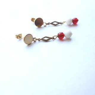 Brown sugar-Brass handmade earrings