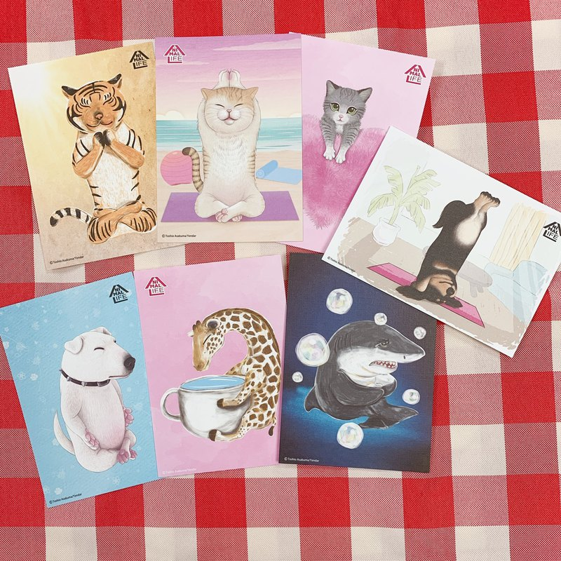 Animal Life Series - (Chao Yujun) Illustrator Postcard - 7 Pieces 1 Set