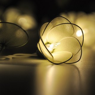20 Green Flower String Lights for Home Decoration Wedding Party Bedroom Patio and Decoration