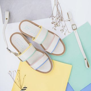 Double shot 2in1 sandals shoes - Pastel smoothies