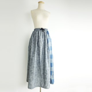 Urb. Blue Moon Sea / Pocket Stitch / Extra Long Skirt