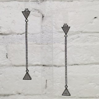 Long Tangle Earrings