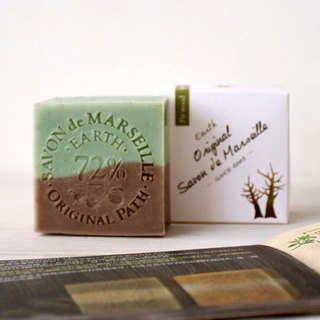 Green Cinnamon Earth Marseille Soap │72% Pure Olive Oil Hand-Cooled Wash Face Soap