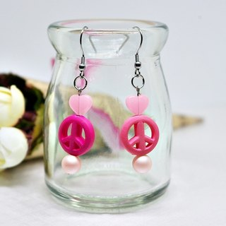 Alloy * heart * _ hook-type earrings ▀ limited X1 # # # # # # # luminous #